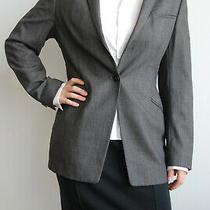 Giorgio Armani Collezioni Classic Gray Wool Blazer Single Breasted Jacket 12us Photo