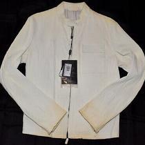 Giorgio Armani Distressed Leather Jacket...sz 52...6145 Photo