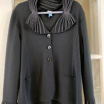 Giorgio Armani Evening Jacket Black Size Made in Italy 14 Ladies Wool Blend Photo