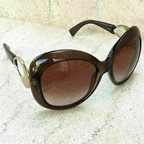 Giorgio Armani Ga 651 S Brown Oversize Womens Sunglasses W/case & Cloth Photo