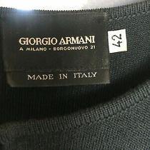 Giorgio Armani Grey Green Long Ankle Cardigan Wool Sweater Jacket / Slits It 42 Photo