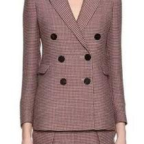 Giorgio Armani Houndstooth Double-Breasted Novelty  Blazer Photo