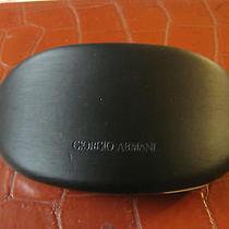 Giorgio Armani Huge Unisex Satin Hard Black Sunglasses Case Only Photo