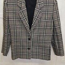 Giorgio Armani Italy 48 Check Plaid Jacket Blazer Wool Tweed Oversized Lined  Photo