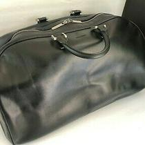 Giorgio Armani Italy Black Doctor Travel Tote Bag Carryall Duffel Luggage Photo