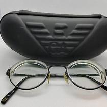 Giorgio Armani Italy Ga454  Stainless Steel Rx Round Glasses Frames W/case Photo