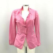 Giorgio Armani Ladies Blazer Jacket Size 40 Uk 12 Light Pink Silk Button 410979 Photo