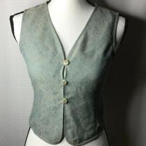 Giorgio Armani Le Collezioni Gray/blue Floral Vest 3 Button Front v-Neck Size 4 Photo