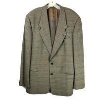 Giorgio Armani Le Collezioni Mens Size 42l Brown Wool 2 Button Suit Jacket  Photo