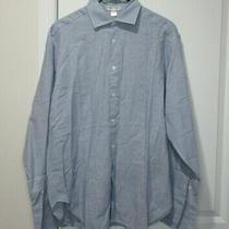 Giorgio Armani Le Collezioni Spread-Collar French-Cuff Striped Shirt Blue 16/41 Photo