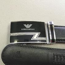 Giorgio Armani Leather Belt Black  Photo