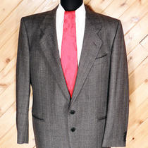Giorgio Armani Mani Mens Gray Heather Ps Wool Suit 42r Photo