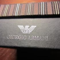 Giorgio Armanimatching Hinged Box Men's tie&cuff Linksunused/unremoved Gift  Photo