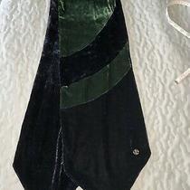 Giorgio Armani Men's Black and Green Suede Scarf Photo