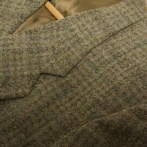 Giorgio Armani Men's Blazer Jacket in a Tan Plaid Made in Italy 42 Sale Photo