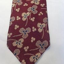 Giorgio Armani Mens Tie Burgundy With Clover  Photo