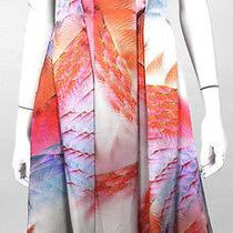 Giorgio Armani Multicolor Abstract Print Silk Satin Cocktail Dress 36 Photo