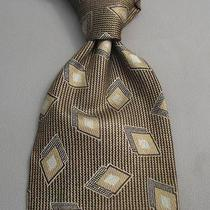 Giorgio Armani Tie Pattern 100% Luxury Italian Silk Necktie D10 Photo