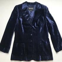 Giorgio Armani Velvet Glitter Jacket in Dark Blue - 42 Photo