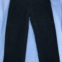 Giorgio Armani  Velvet  Ribbed Pants. Black With Sparkle Thread. 15 Inches Waist Photo