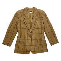 Giorgio Armani Women's Blazer Jacket  Vintage High End Designer Brown Suit Vtg Photo