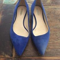 Giorgio Armani Womens Blue Suede Flats Size Eur 36/us 6 Photo