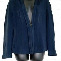 Giorgio Armani Women's Size 40 Long Sleeve Casual Navy Blue Blazer Jacket 3584 Photo