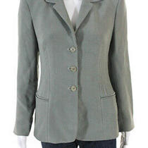 Giorgio Armani Womens Silk Button Blazer Sage Green Size 40 It Ll19ll Photo