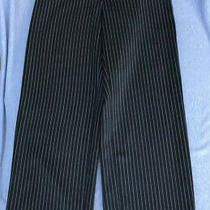 Giorgio Armani Wool Pants. Size 42. Black and White Stripe. Photo