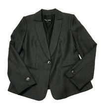 Giorgio Armani Wool Silk Micro Check Print Pattern Women's One Button Blazer 8 Photo