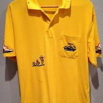 Giovanni Valentino Italy Yellow Golf Polo Shirt Golfers Dolphins X-Large Xl Photo