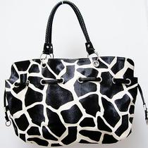 Giraffe Animal Print Design Hobo Style Handbag  Trim Photo