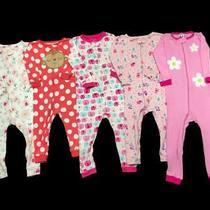 Girl 18-24 Months Carter's Gap Cotton Footless Zip Sleeper Pajama Clothes Lot Photo