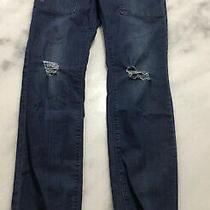 Girl Hudson Jeans Joggers Unique Distressed Denim Size Xl Fits Like a 12-14 Photo