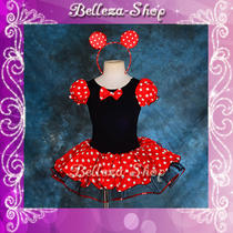 Girl Minnie Mouse Dance Costume Fancy Dresses Headband Party Birthday 6-7 Fc028 Photo