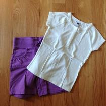 Girl's 2 Piece Set Gap Top So Shorts Size 6/7 Photo