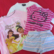 Girl's 4 Pcs Sweater Shorts & Shirts Size 6 Hello Kitty America Living Disney Photo