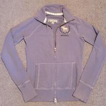 Girl's Abercrombie & Fitch Slate Blue Noodie Sweatshirt Zip Front Sz L 10/12 Photo
