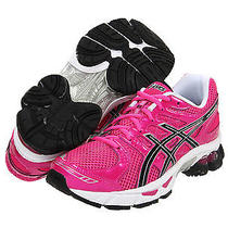 Girl's Asics Size 7 Women's 9 Hot Pink Fuschia Gel Nimbus 14 Running Shoes New Photo