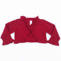 Girl's Baby Gap Red Knitted Bolero Sweater Size 3/6 Months  Photo