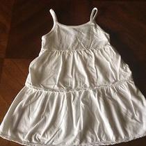 Girl's Baby Gap Sundress White Dress Cotton Size 3 Photo