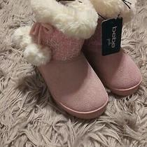 Girl's Bebe Blush Pink Snow Boots Sizes 12-4 Photo