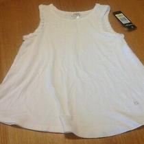 Girl's Bebe Girls White Sleeveless Top Size Large 14 New With Tags Nwt Photo