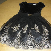 Girl's Black and Gold Sz 14 Blush by Us Angels Holiday Dress Fits Like a 12 Photo