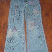 Girl's Blue Old Navy Jeans With Artwork (Size 6) Photo