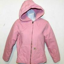Girls Carhartt Redwood Jacket Sherpa Lined Size M (10-12) Rose Bloom Photo
