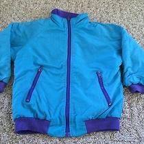 Girl's Christie Brooks Nylon Jacket Size 6 Teal Cute Photo