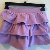 Girl's Gap Kids Ruffle Tier Sweatshirt Skirt Lt. Purple With Sparkles.  S 6-7 Photo