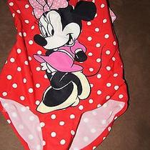 Girl's h&m Disney Minnie Mouse One Pc Swimsuit - Size 4-6y Photo
