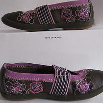 Girl's Keds Mary Janes Shoes Size 11 1/2m Brown & Purple Very Pretty Photo